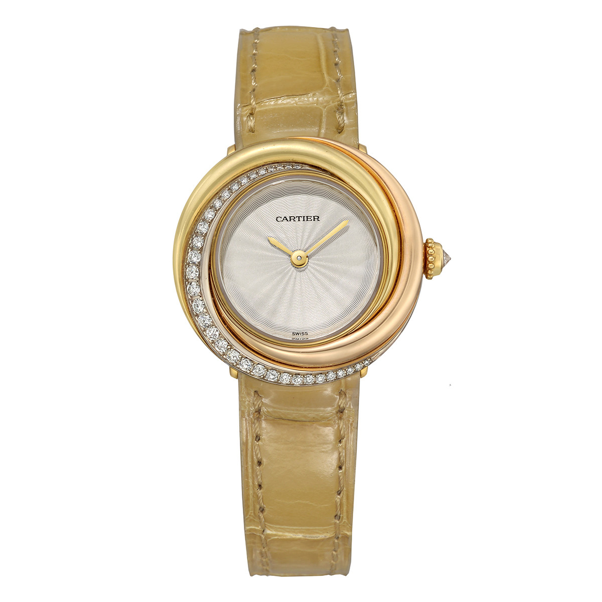 Trinity Tricolored Gold & Diamond Wristwatch
