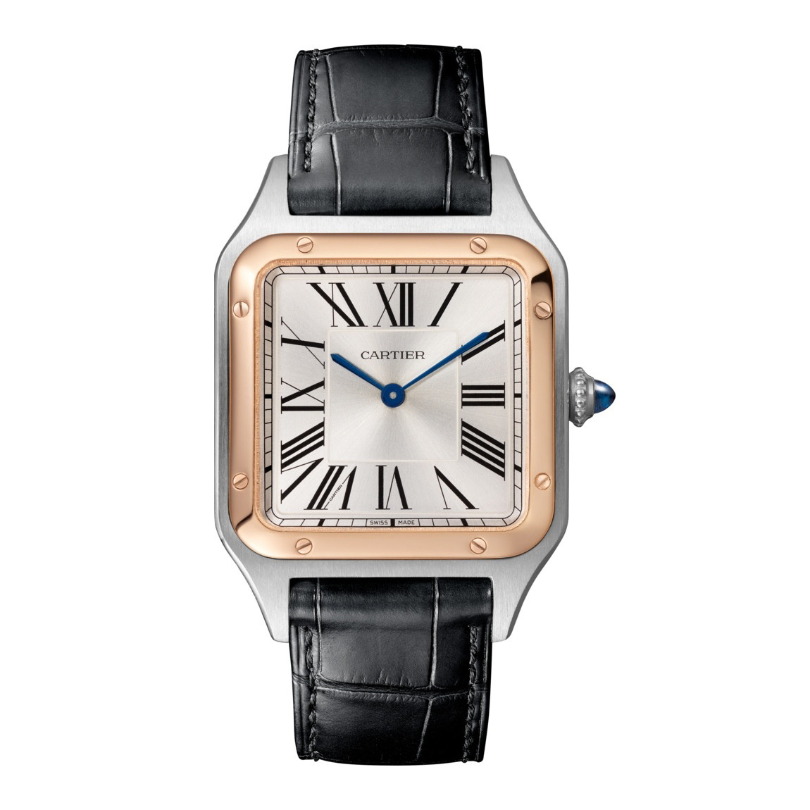 Santos-Dumont Large Rose Gold & Steel (W2SA0011)