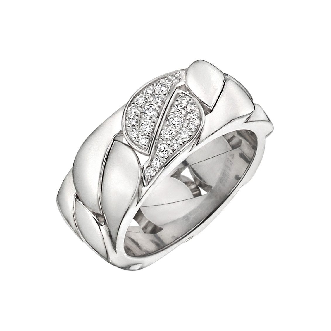 "18k White Gold & Diamond ""La Dona"" Band Ring"