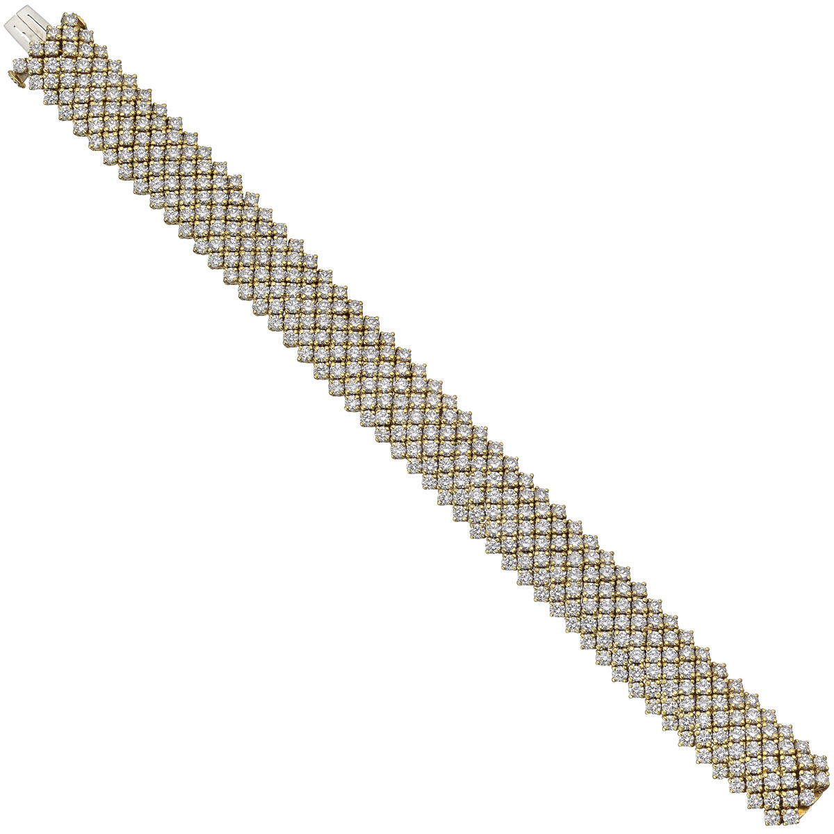 7-Row Diamond Mesh Bracelet