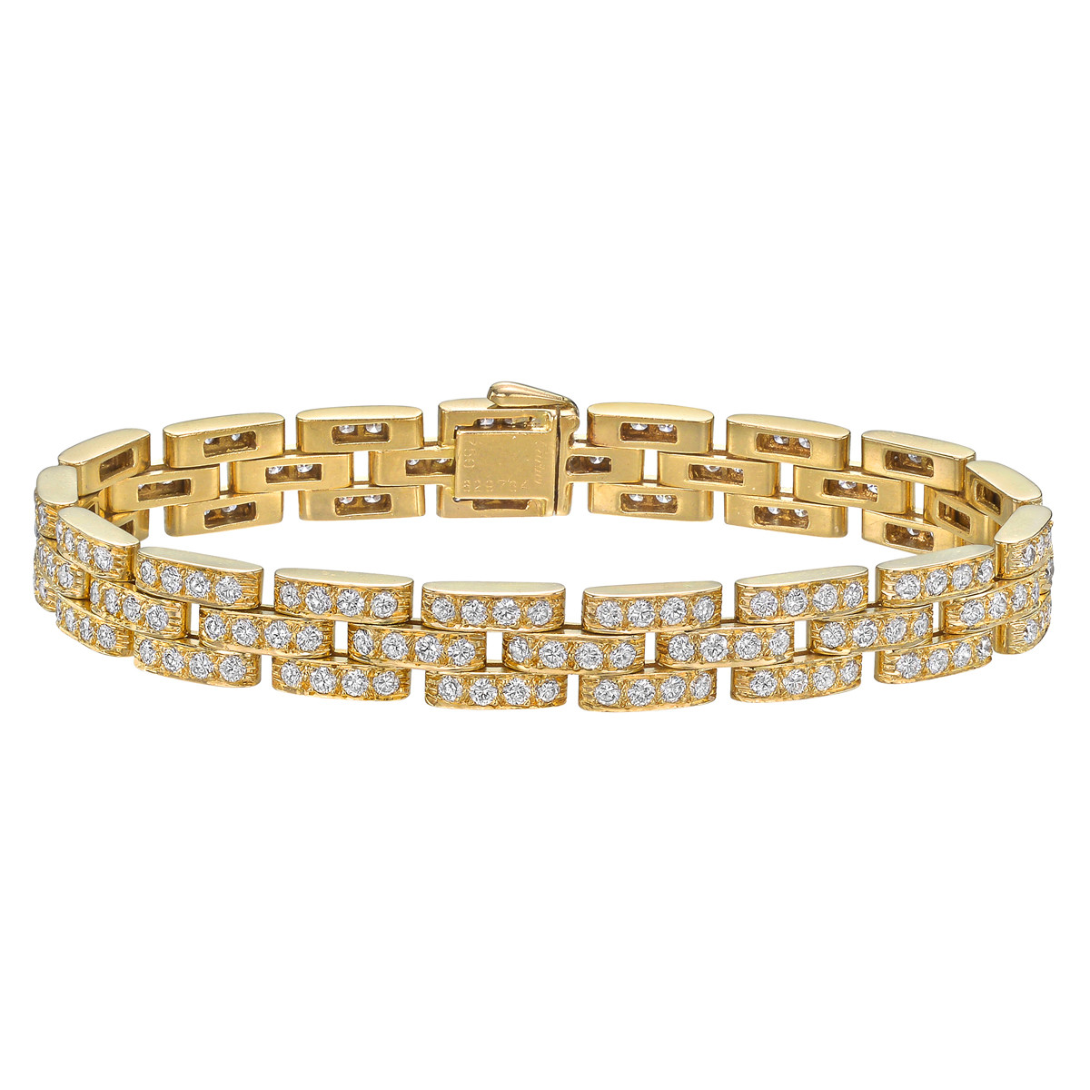 "18k Yellow Gold & Diamond ""Maillon Panthère"" Bracelet"