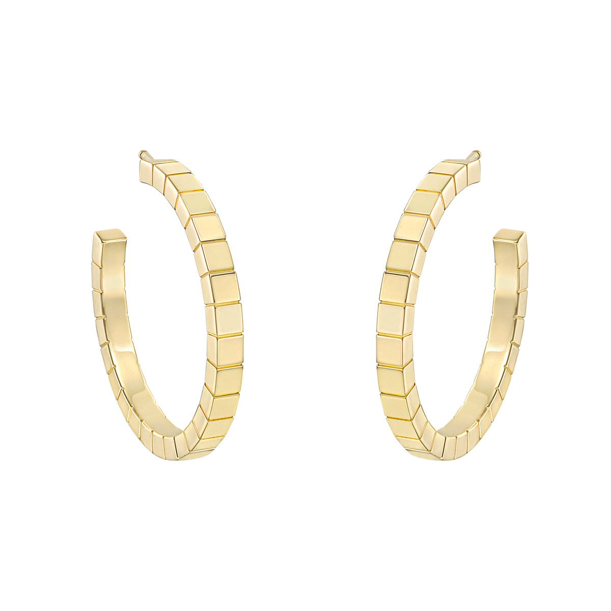 "18k Yellow Gold ""Lanières"" Hoop Earrings"