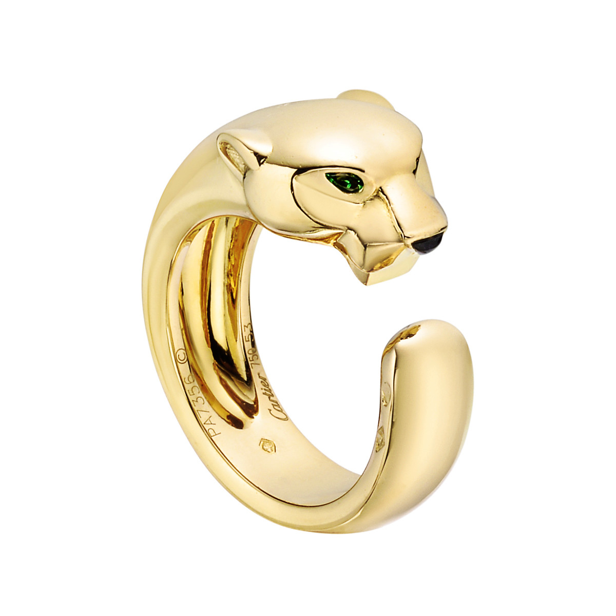 "18k Yellow Gold ""Panthère"" Band Ring"