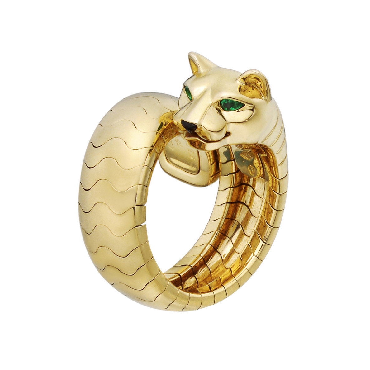 "18k Yellow Gold ""Panthère"" Bypass Ring"