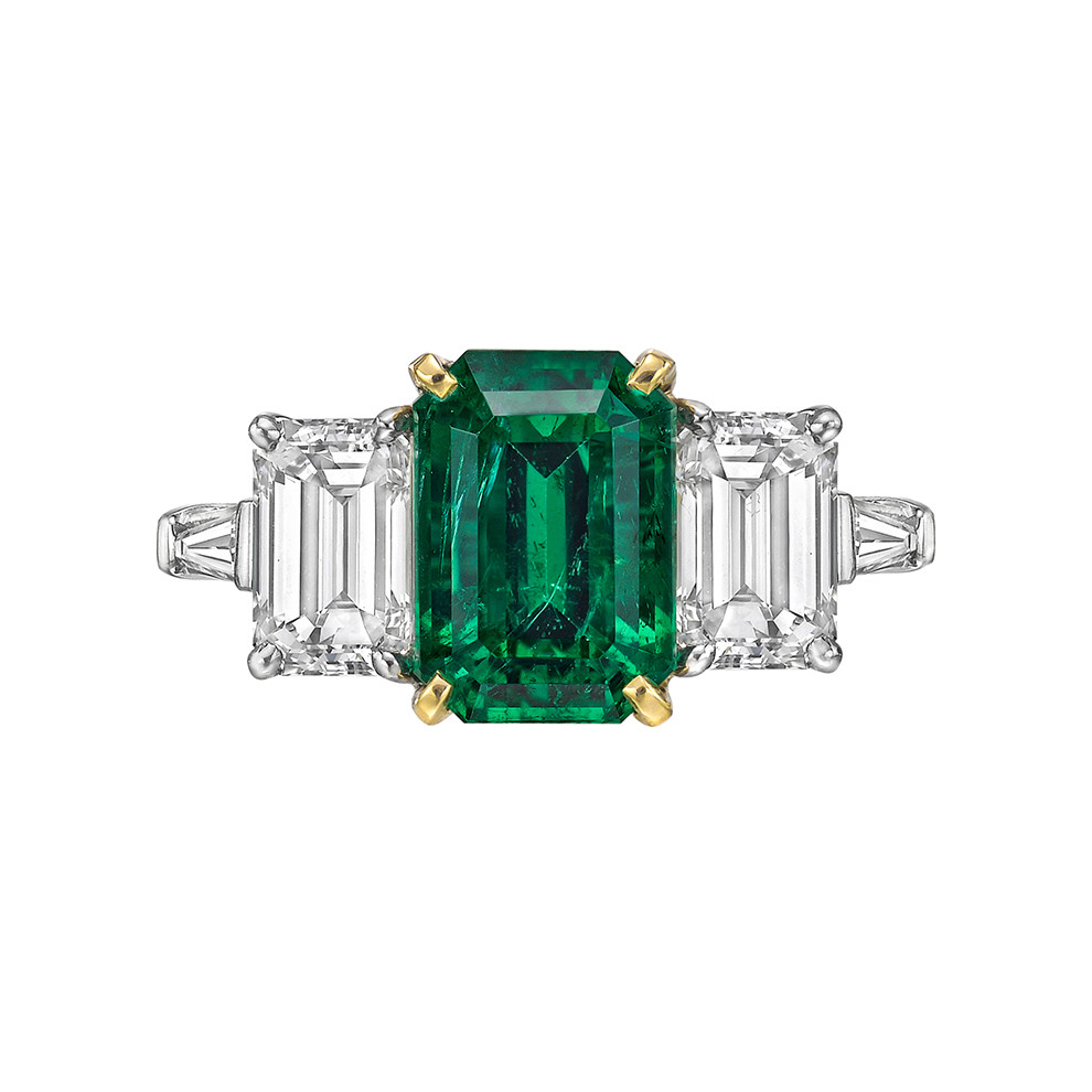 Estate Cartier 3 34 Carat Emerald Amp Diamond Ring Betteridge