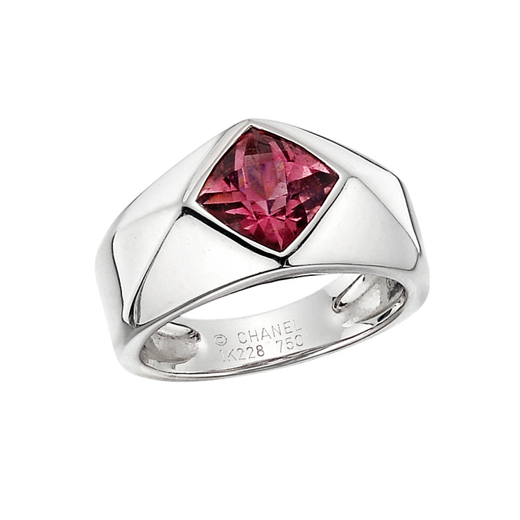 18k White Gold & Pink Sapphire Ring