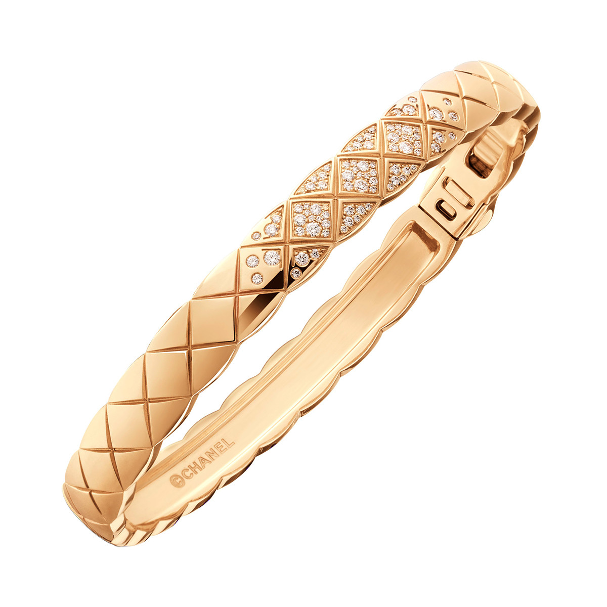 "18k Beige Gold & Diamond ""Coco Crush"" Bangle"