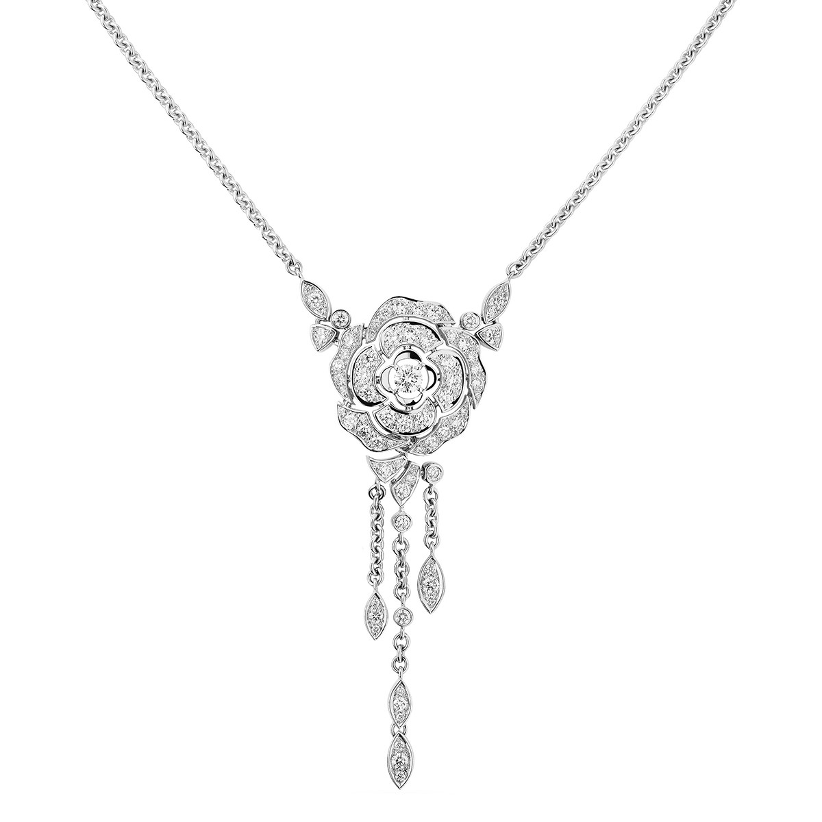 Diamond Bouton de Camélia Necklace