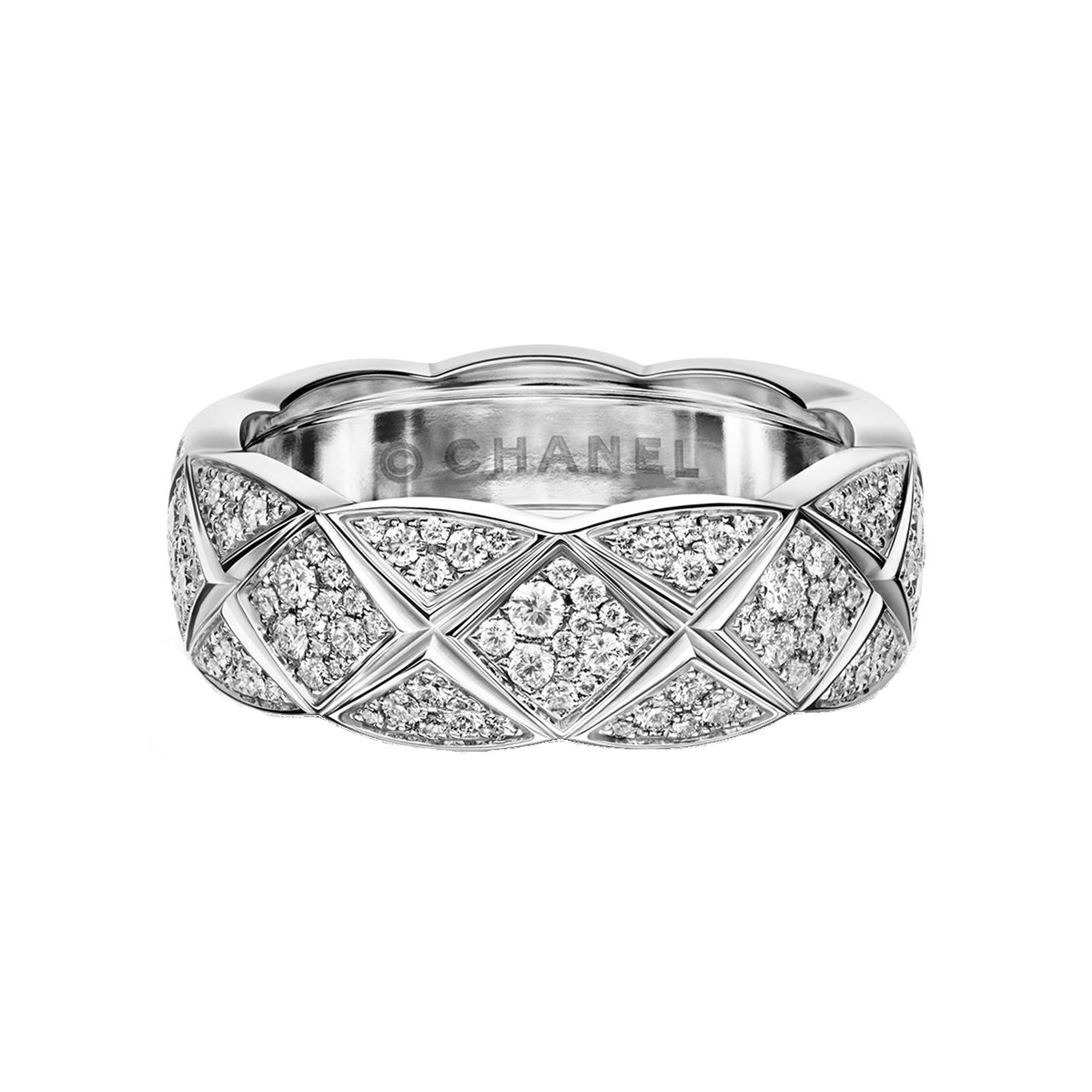 "18k White Gold & Diamond ""Coco Crush"" Small Band"