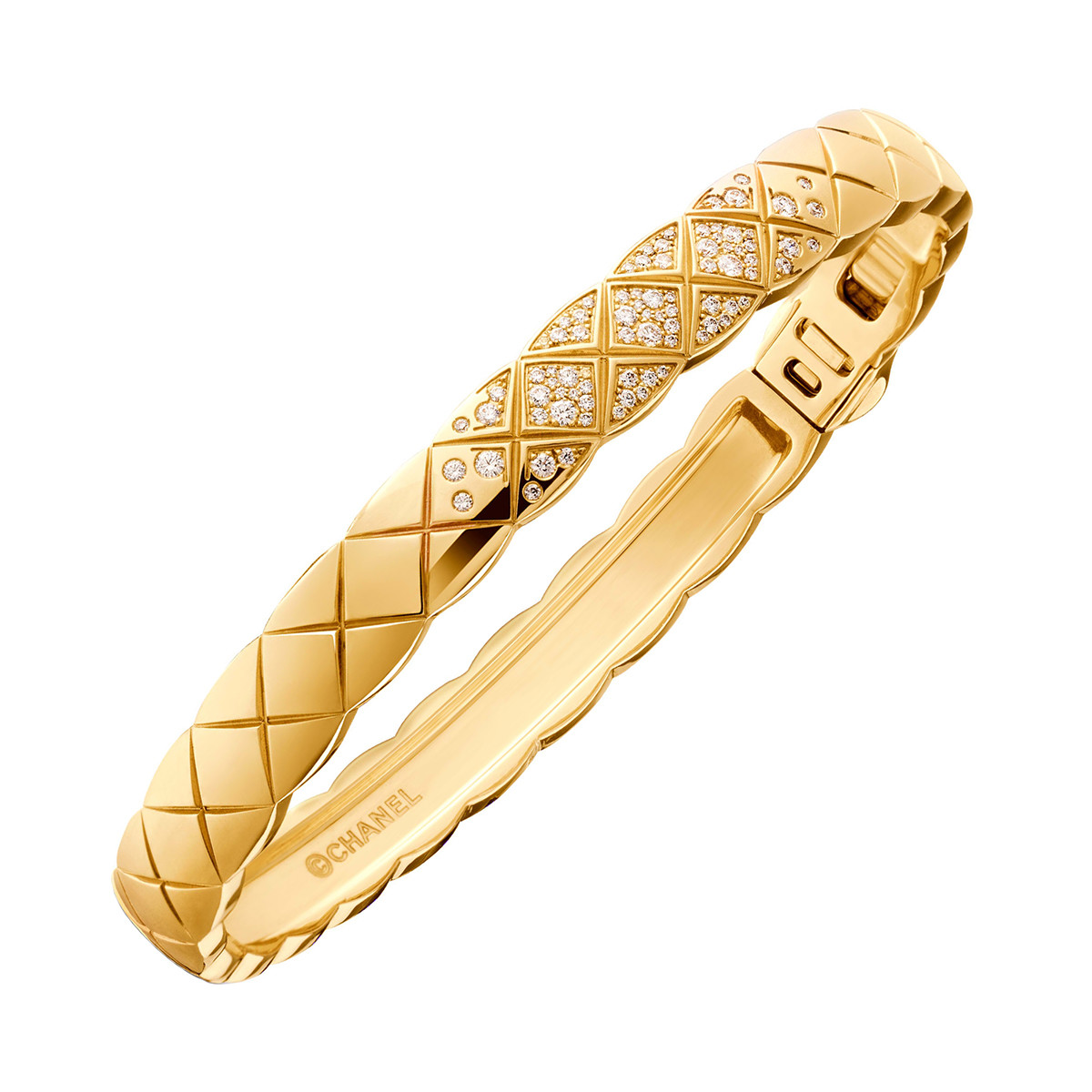 "18k Yellow Gold & Diamond ""Coco Crush"" Bangle"
