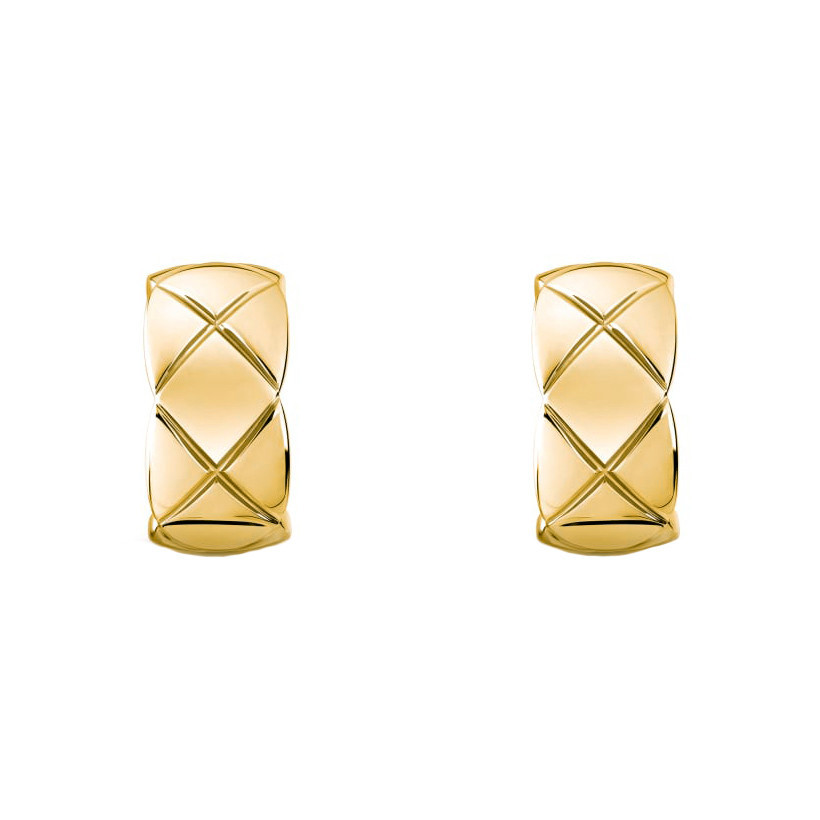 "18k Yellow Gold Small ""Coco Crush"" Hoop Earrings"
