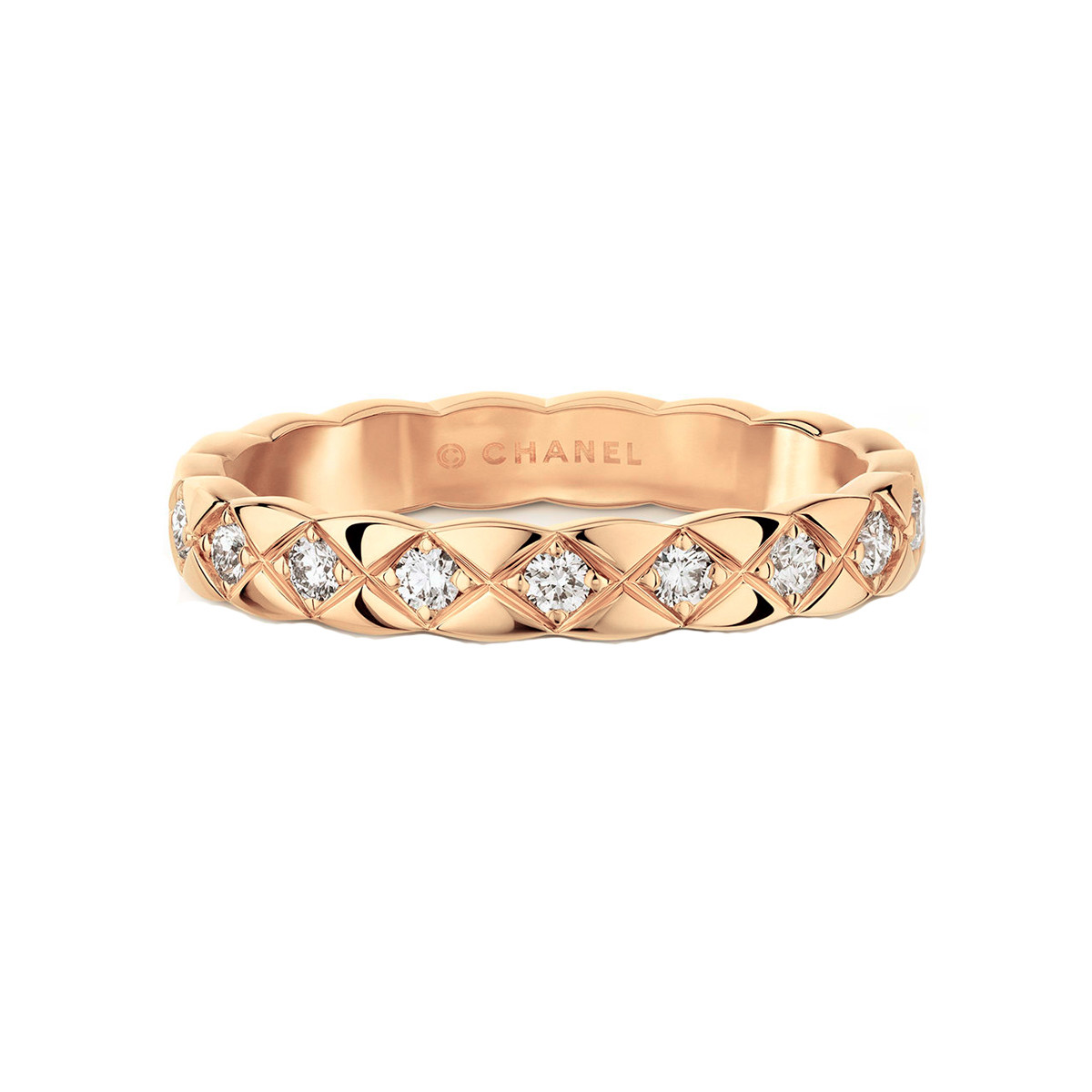 "18k Beige Gold & Diamond Mini ""Coco Crush"" Band"