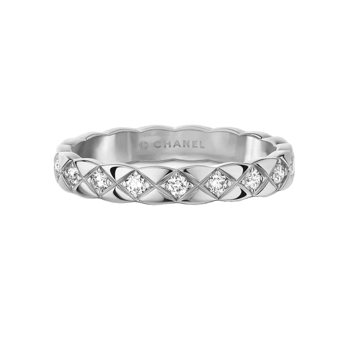 "18k White Gold & Diamond Mini ""Coco Crush"" Band"