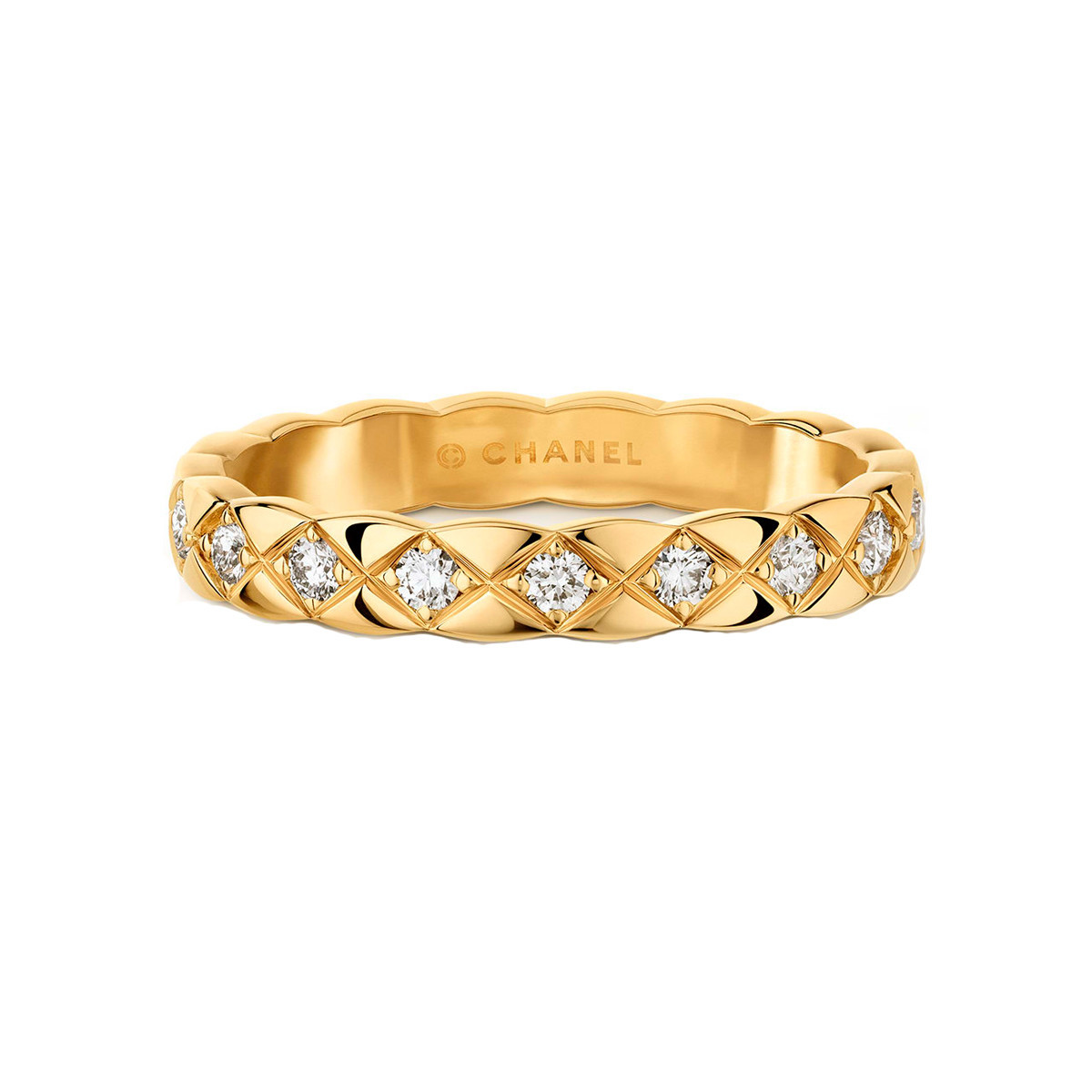 "18k Yellow Gold & Diamond Mini ""Coco Crush"" Band"