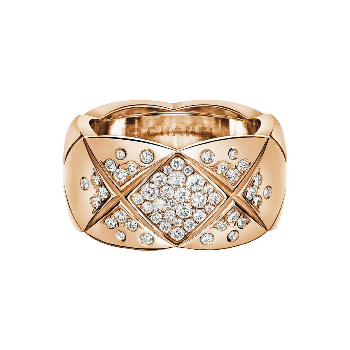 "18k Beige Gold & Diamond Medium ""Coco Crush"" Band"