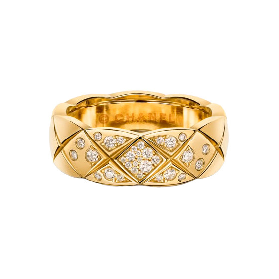 "18k Yellow Gold & Diamond ""Coco Crush"" Small Band"