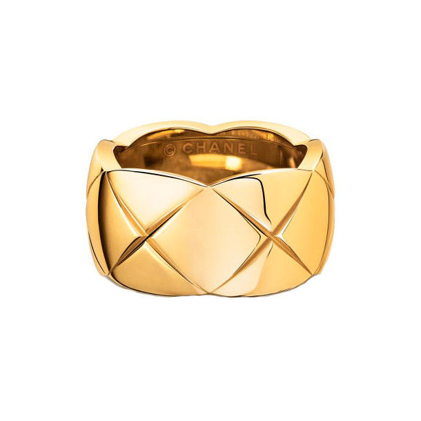 "18k Yellow Gold ""Coco Crush"" Wide Band"