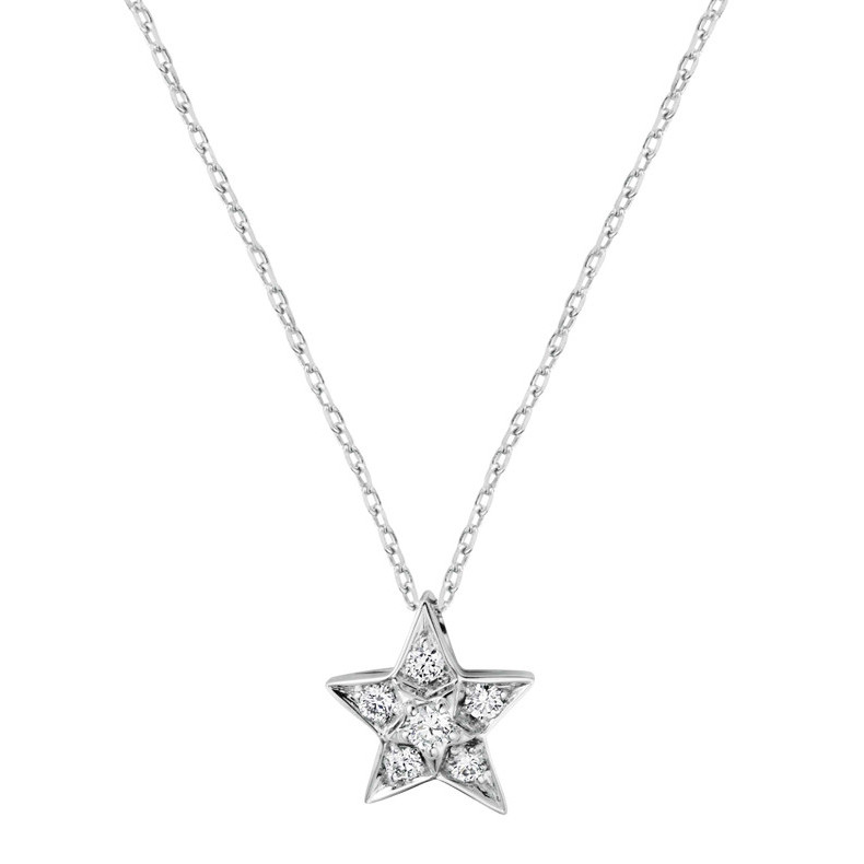 "Diamond ""Comète"" Small Star Pendant"