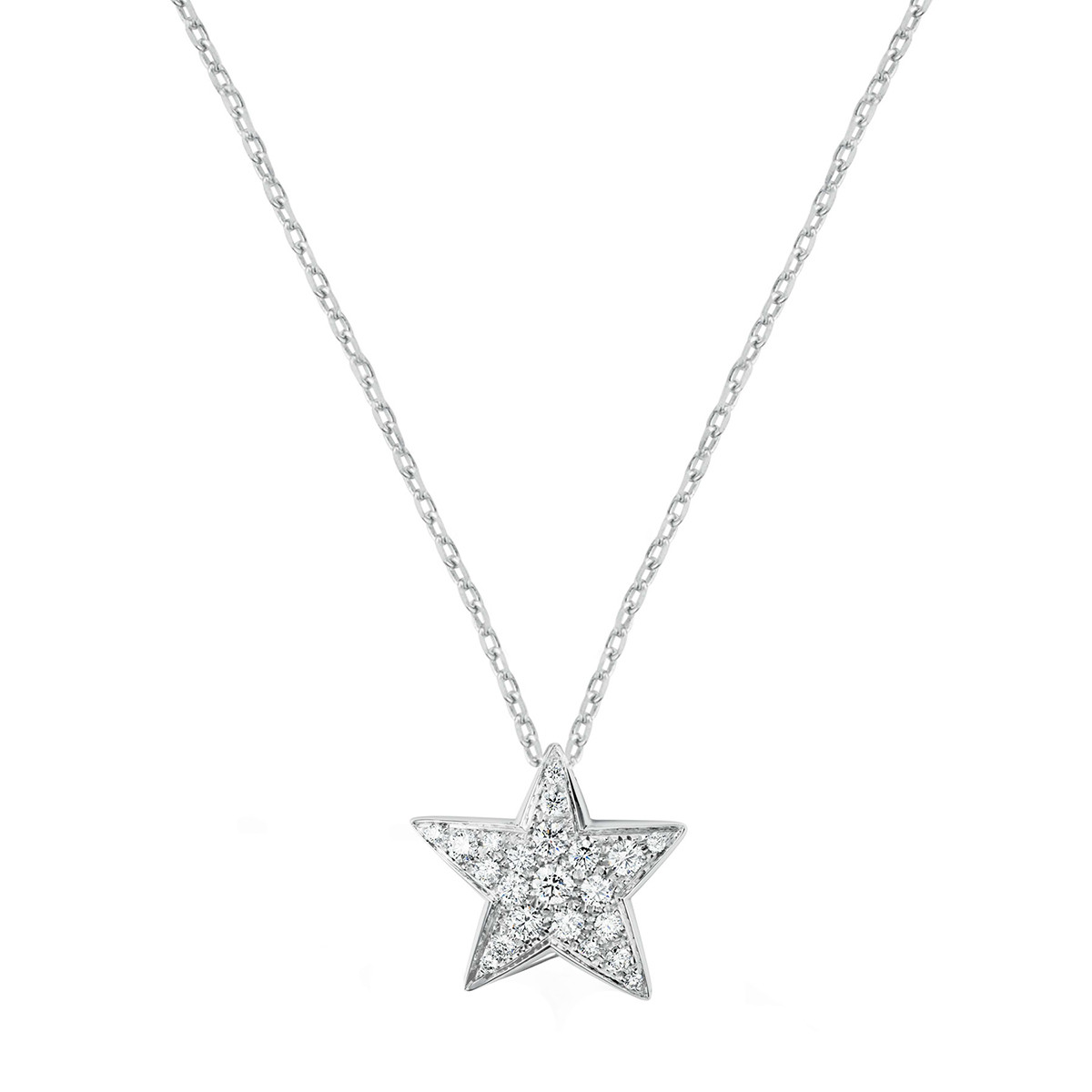 "Diamond ""Comète"" Large Star Pendant"
