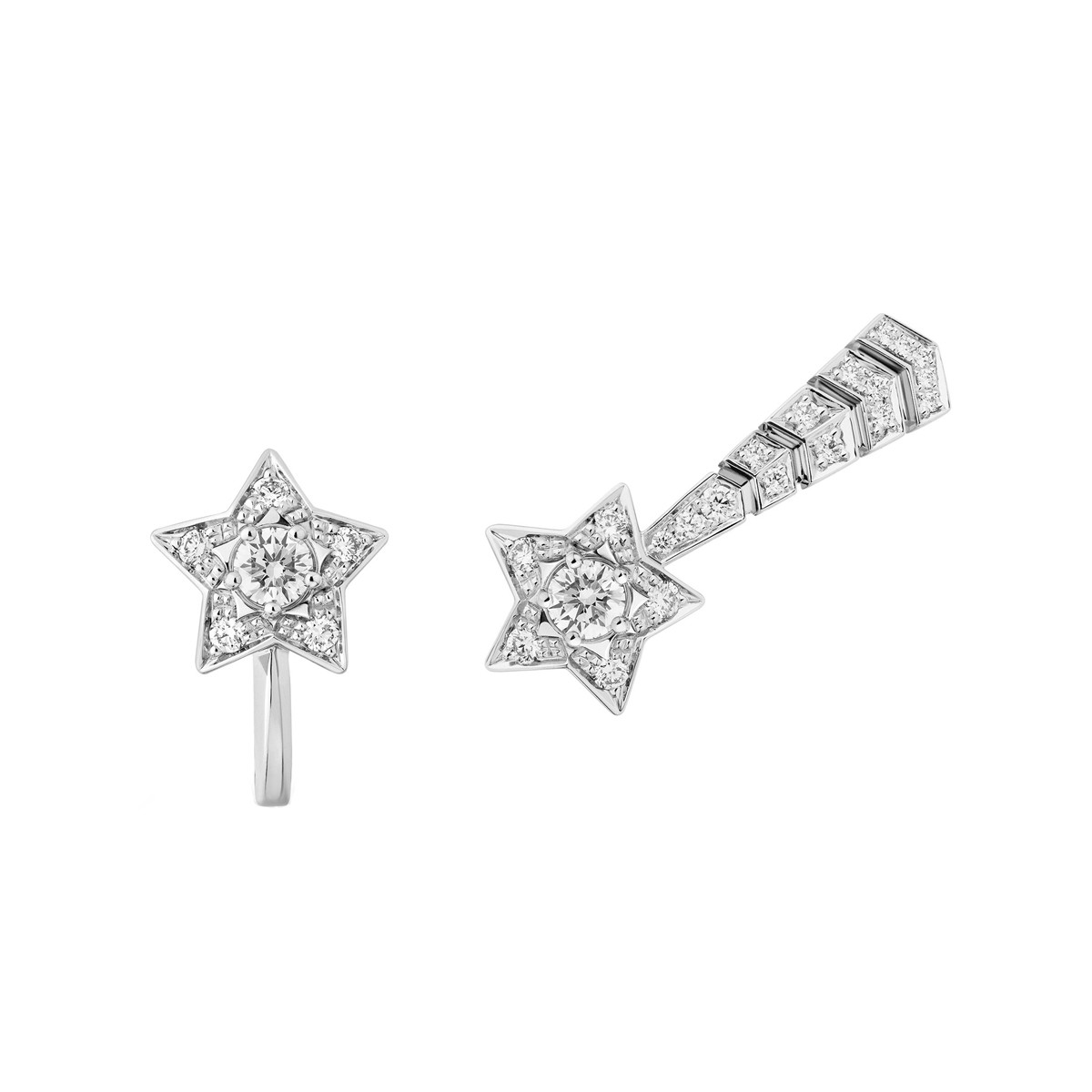 "Diamond ""Comète"" Shooting Star Earrings"