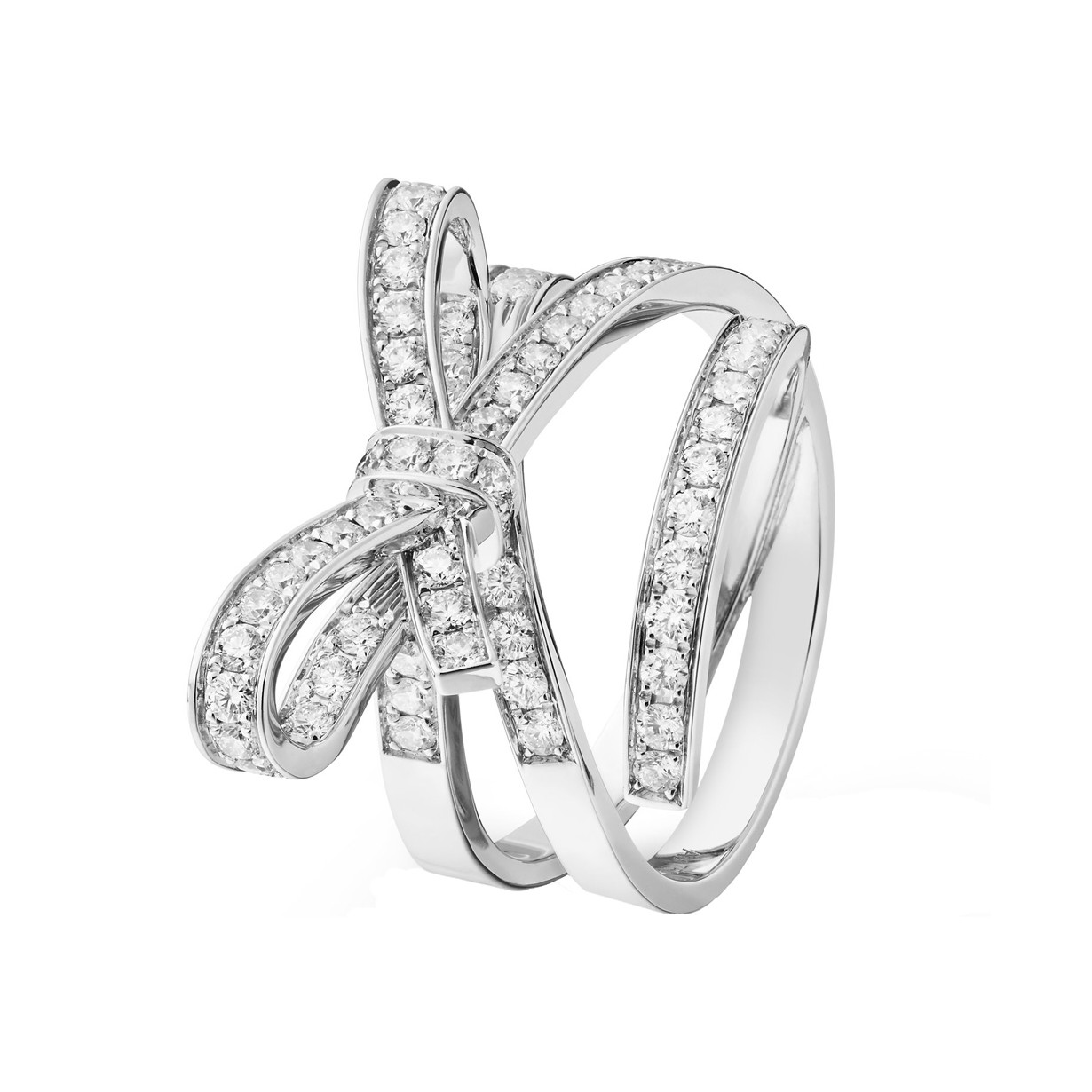 Diamond Ruban Ribbon Ring