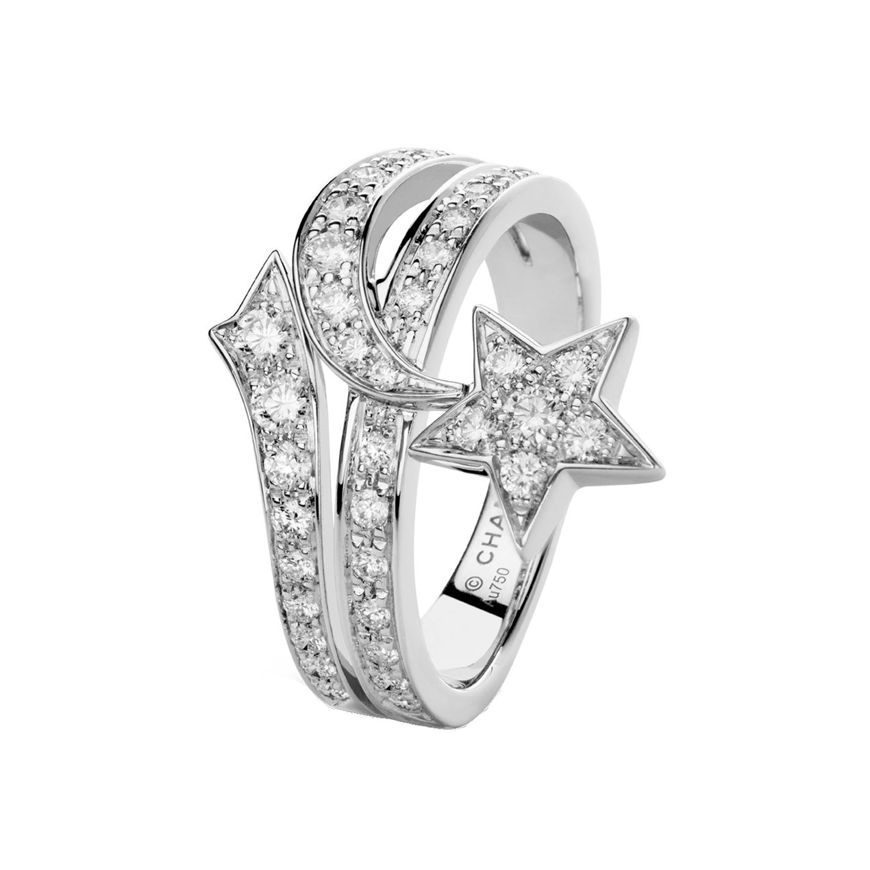 "Diamond ""Comète"" Shooting Star Ring"