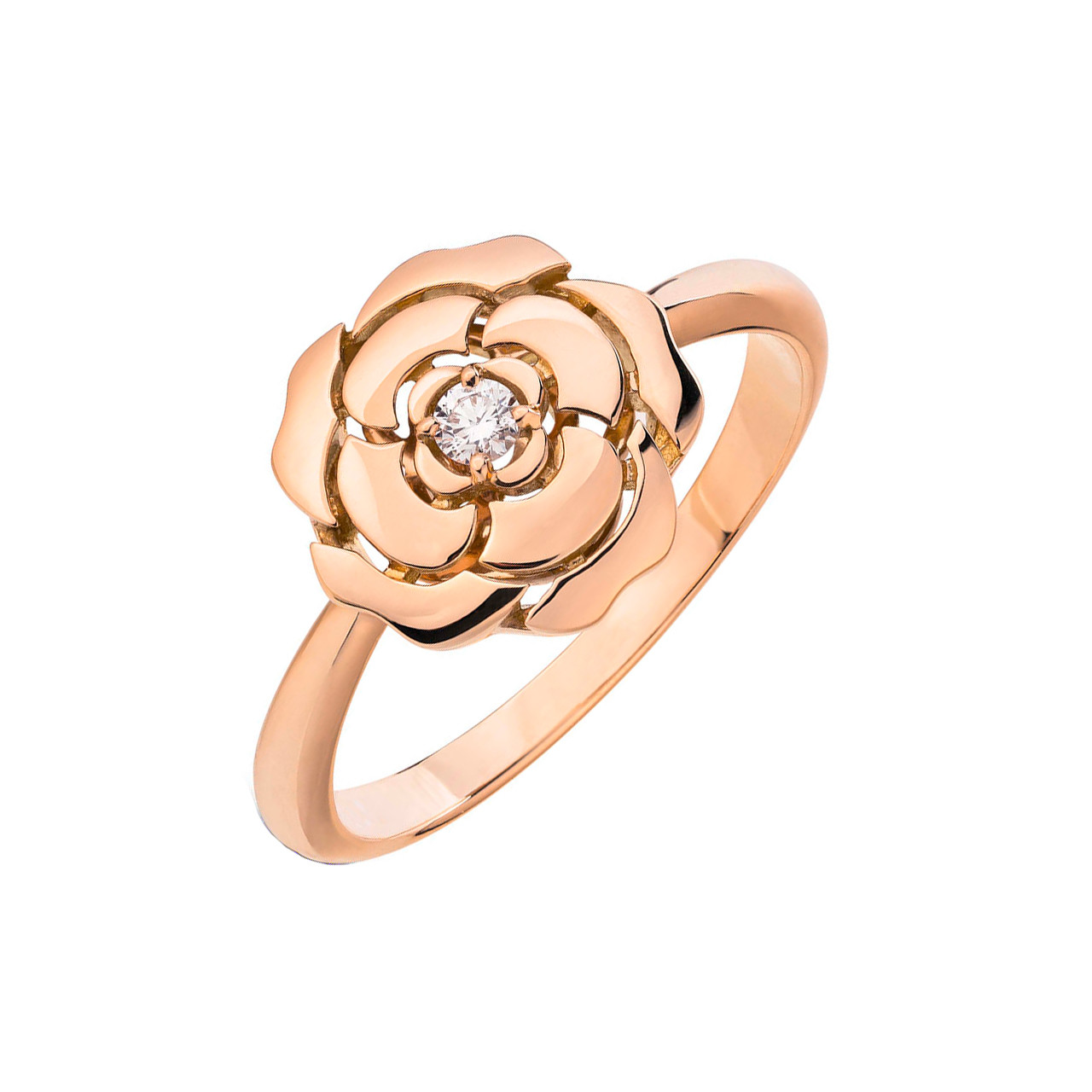"18k Rose Gold & Diamond ""Extrait de Camélia"" Ring"
