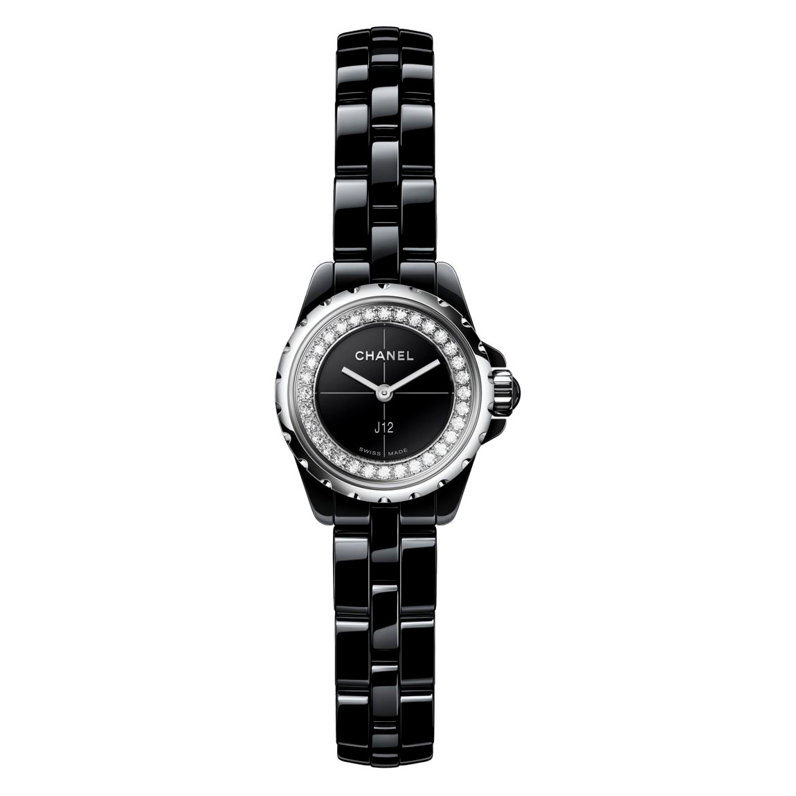 J12 19mm Black Ceramic & Diamonds (H5235)