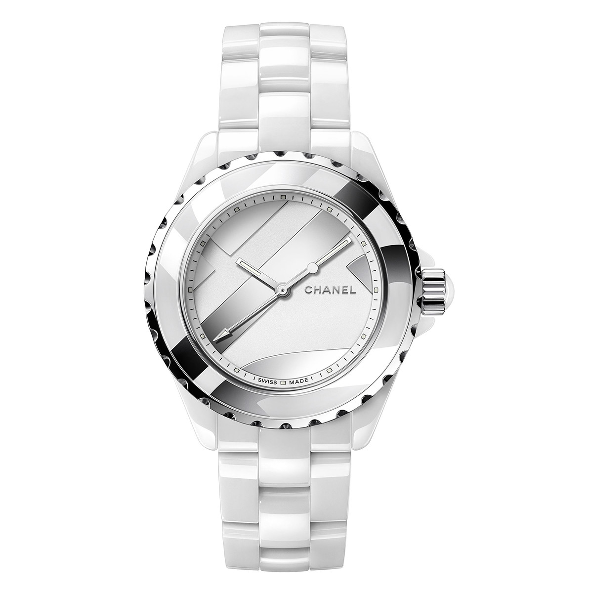 "J12 38mm ""Untitled"" White Ceramic (H5582)"