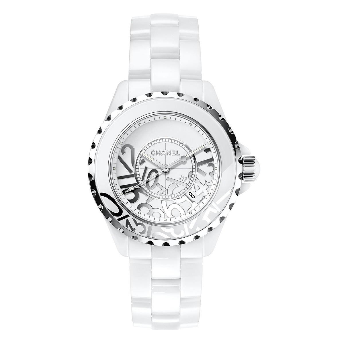 "J12 ""Graffiti"" 33mm White Ceramic (H5239)"