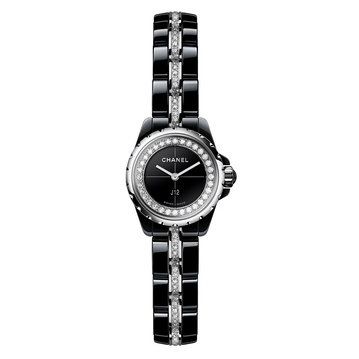 J12 19mm Black Ceramic & Diamonds (H5236)