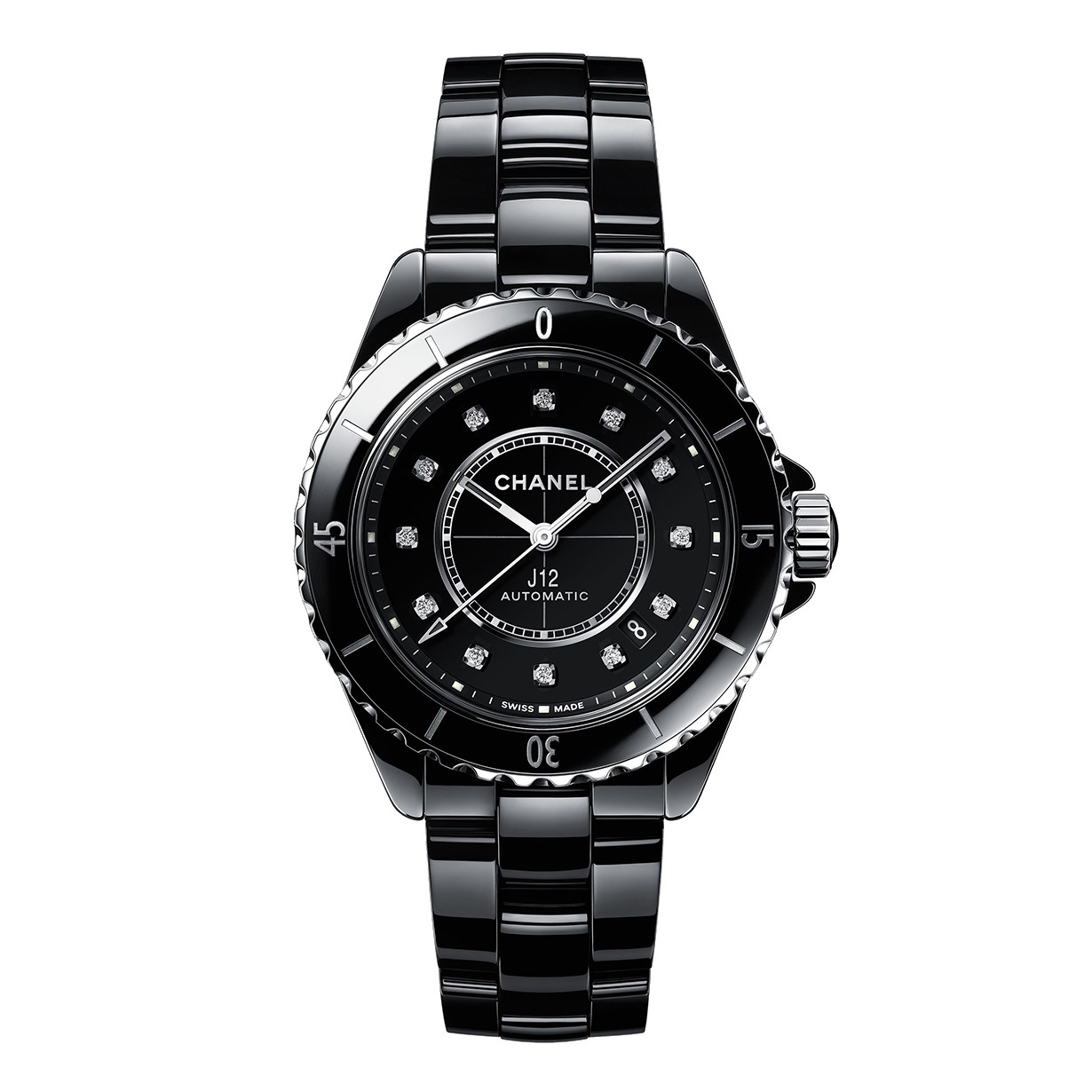 J12 38mm Black Ceramic (H5702)