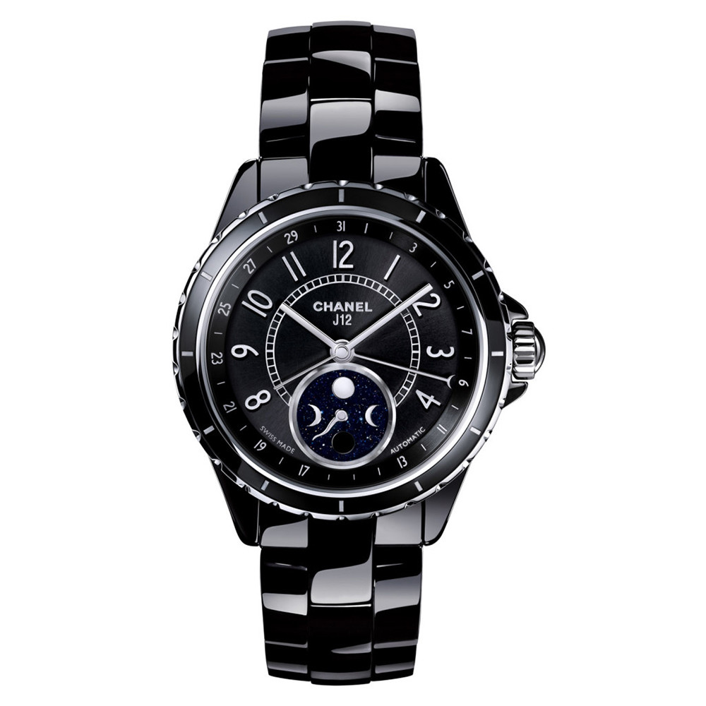 J12 Moonphase Black Ceramic (H3406)