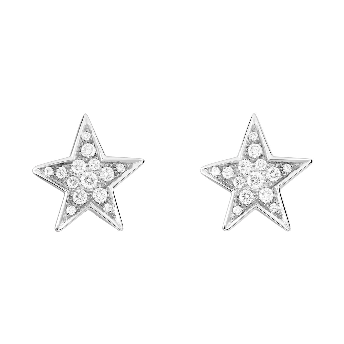 "Diamond ""Comète"" Medium Star Stud Earrings"