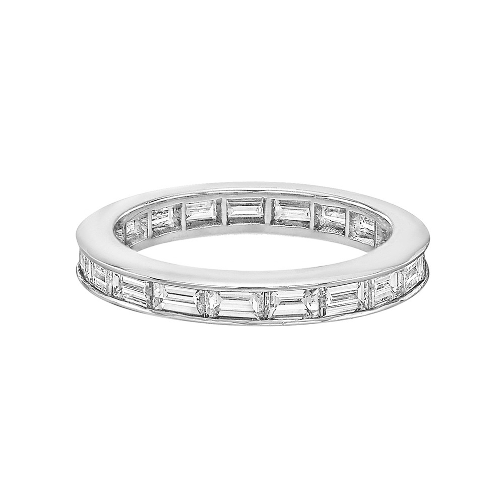 Channel-Set Baguette-Cut Diamond Eternity Band (~2 Ct Tw