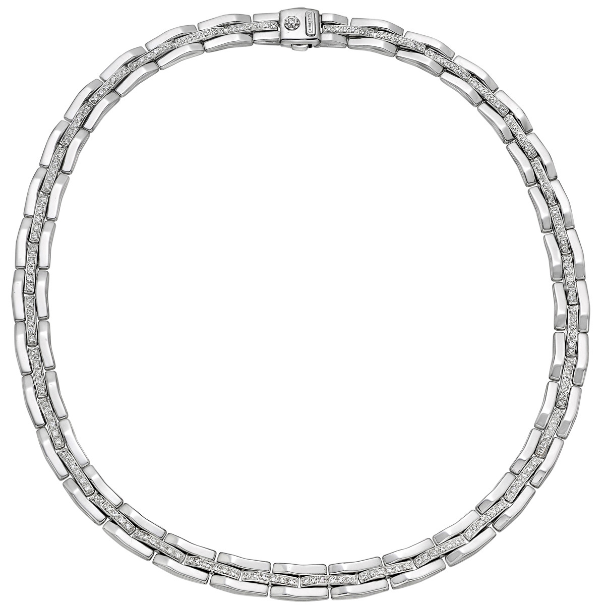 18k White Gold & Diamond Link Necklace