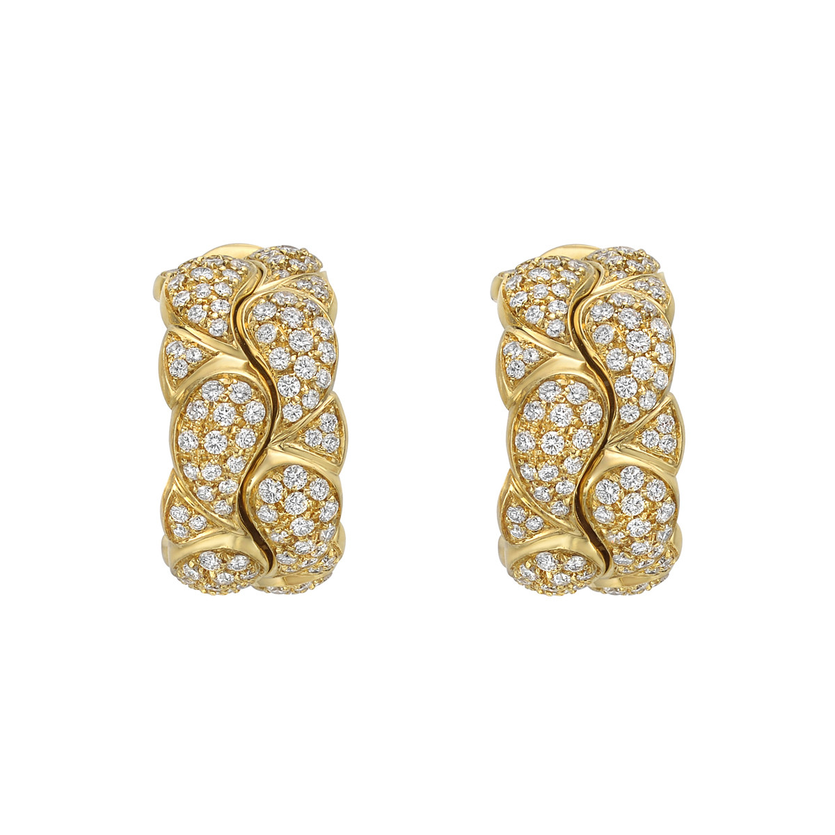 18k Yellow Gold & Diamond 'Casmir' Earclips