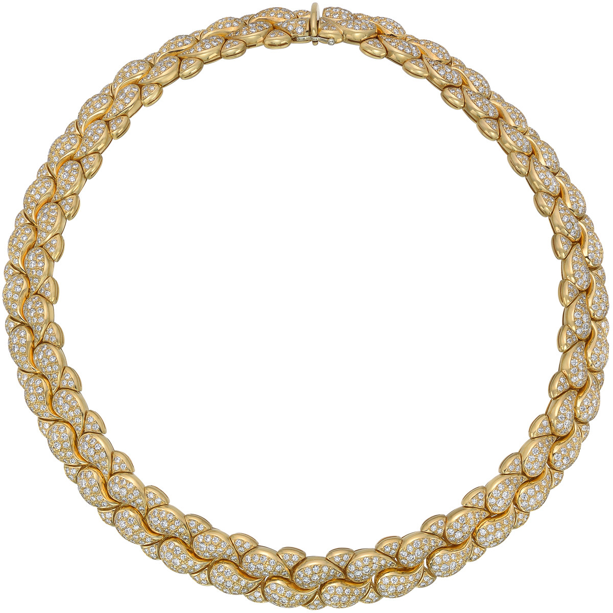 18k Yellow Gold & Diamond 'Casmir' Necklace