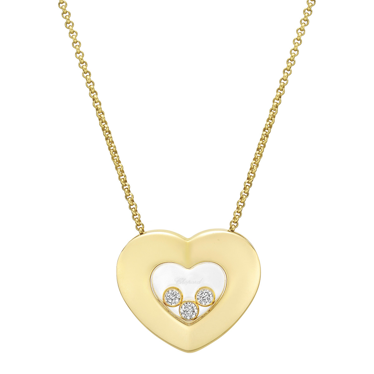 """Happy Diamonds"" Heart Pendant Necklace"
