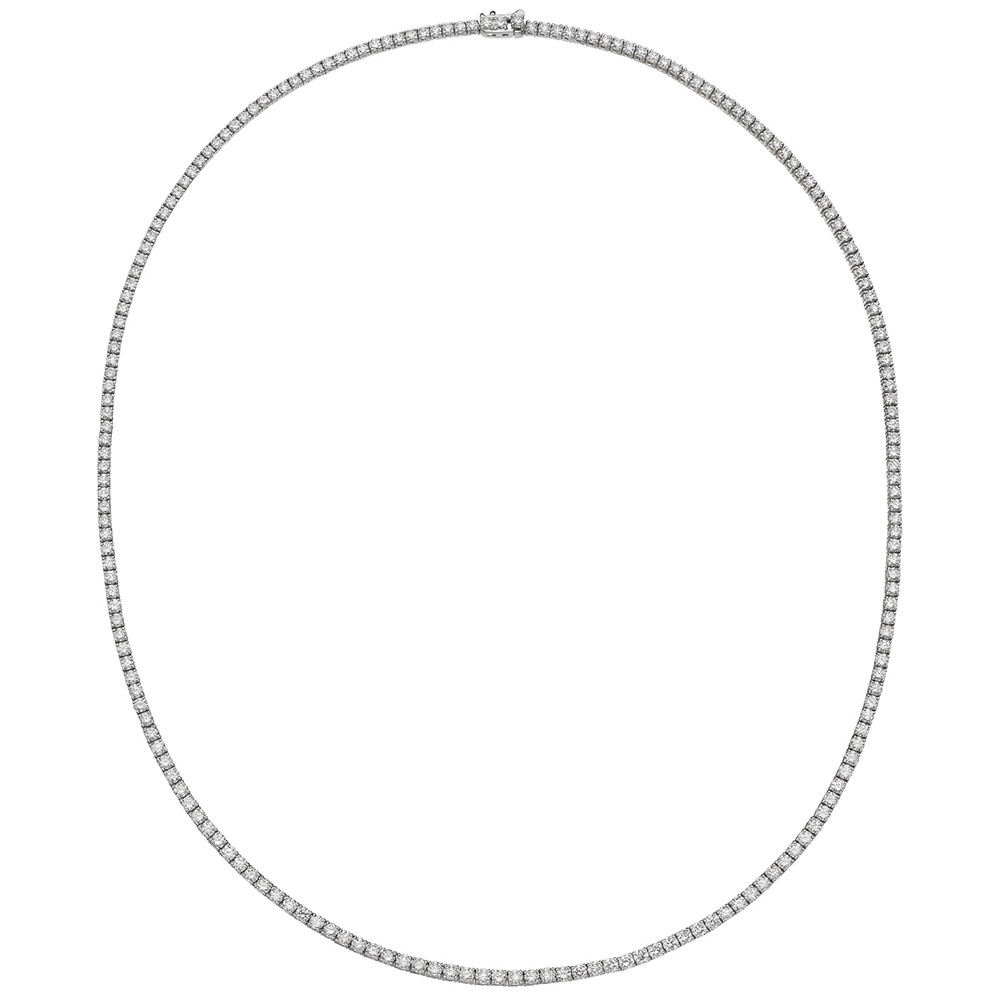 Classic Diamond Line Necklace (~6 ct tw)