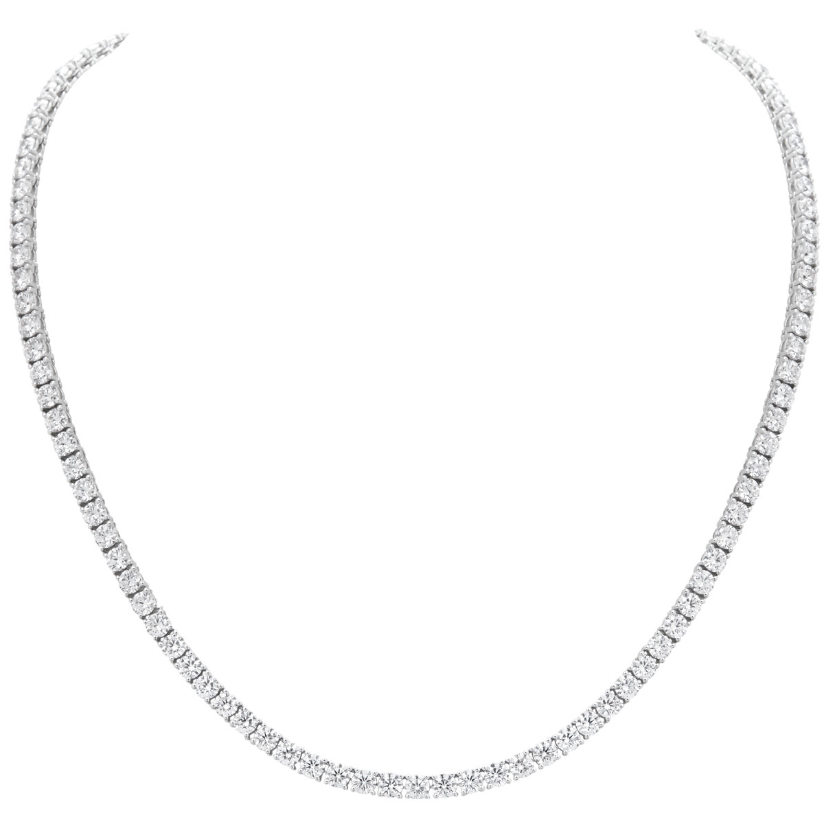 Classic Diamond Line Necklace (14.30ct tw)