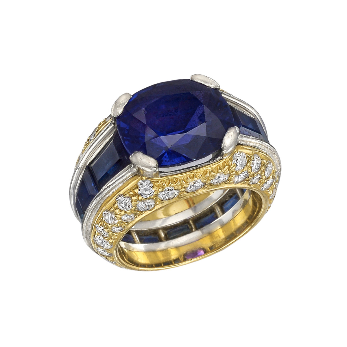 5.15ct Sapphire & Diamond Cocktail Ring