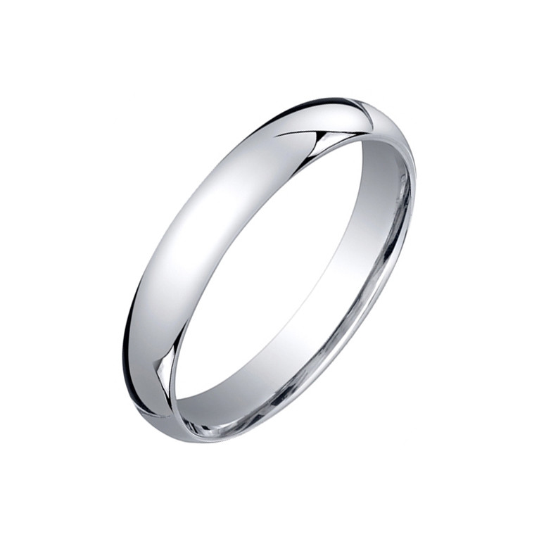 ​Platinum Comfort Fit Wedding Band (4mm)