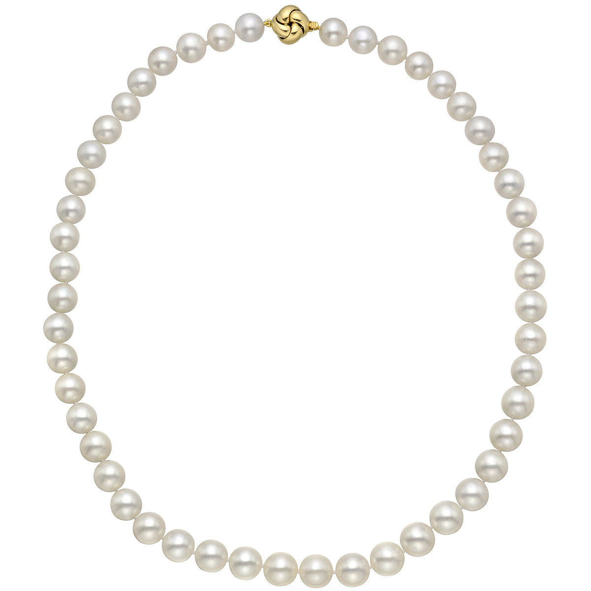 Cultured Pearl Necklace with 18k Yellow Gold Clasp