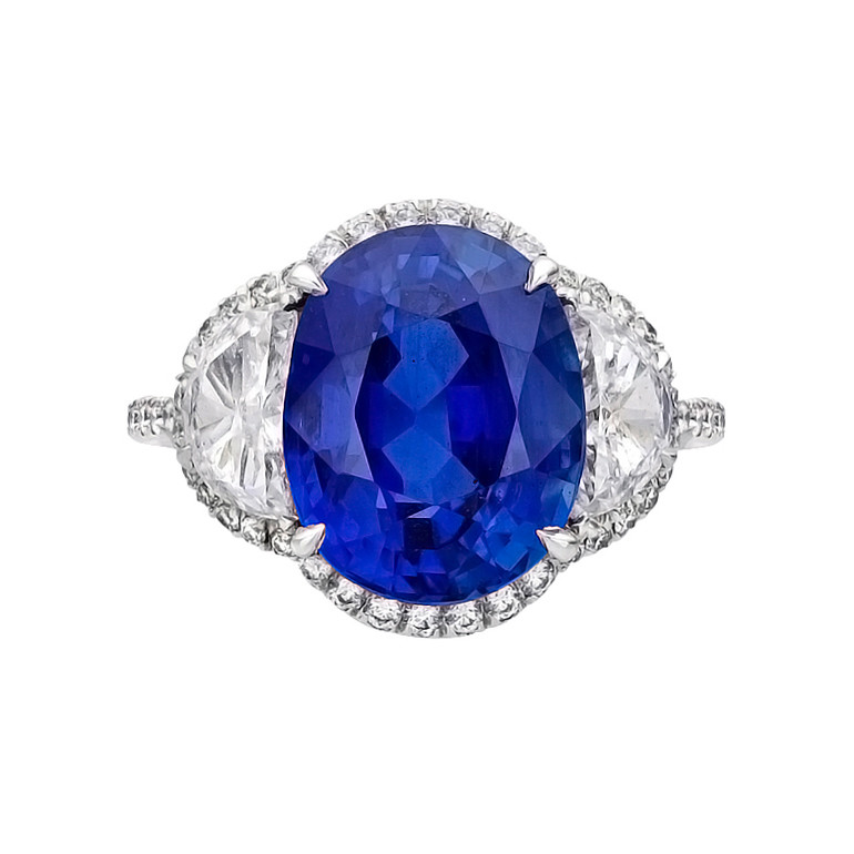 cushion three hamilton ring in sapphire cut stone platinum