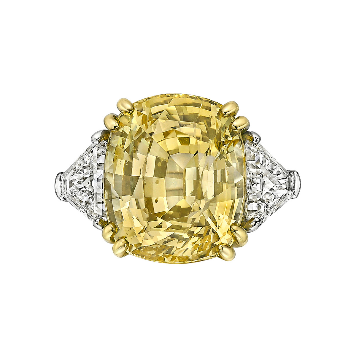 13.72ct No-Heat Yellow Sapphire Ring