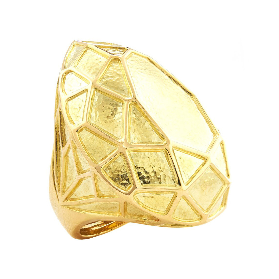 "18k Gold Pear-Shaped ""Solitaire"" Cocktail Ring"