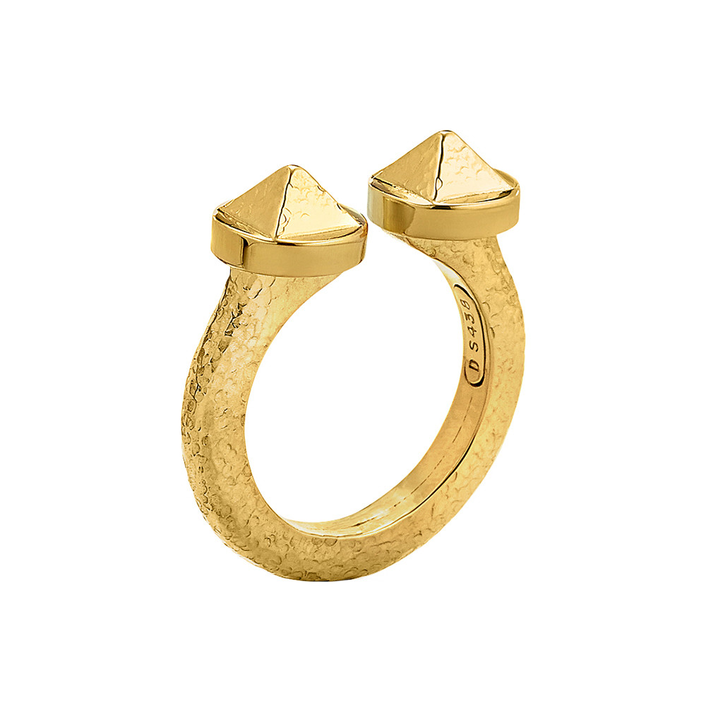 "Hammered 18k Yellow Gold ""Bastille"" Ring"