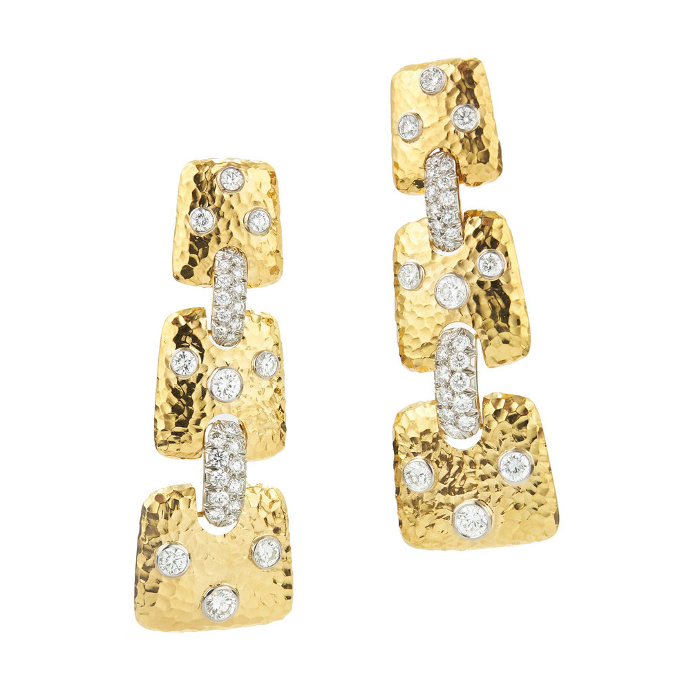 "18k Gold & Diamond ""Starlight"" Drop Earrings"