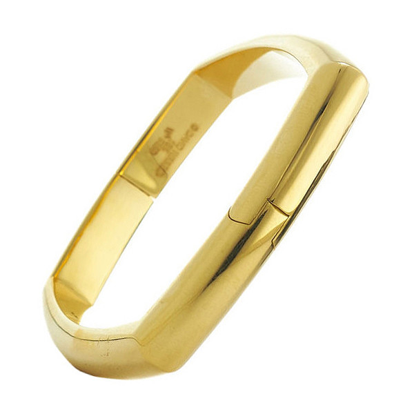 "Polished 18k Yellow Gold ""Quad"" Bangle"